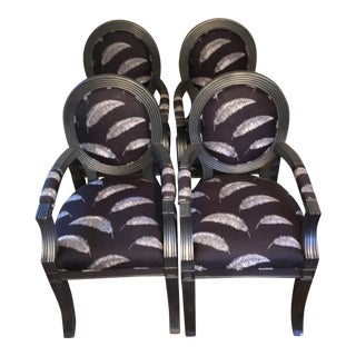 Sally Sirkin Lewis Custom Chairs - Set of 4