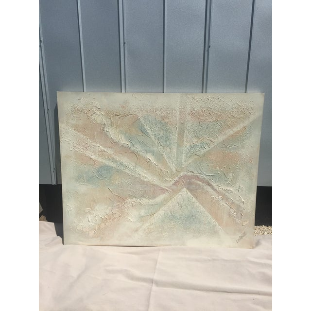 Extra Large- Lee Reynolds Sunrise Mid Century Modern Pastel Abstract Canvas Painting Signed - Image 2 of 11