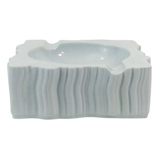 Naaman Artline Abstract White Porcelain Ashtray