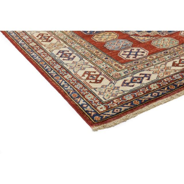 """New Kazak Hand Knotted Area Rug - 4'10"""" x 7'3"""" - Image 2 of 3"""