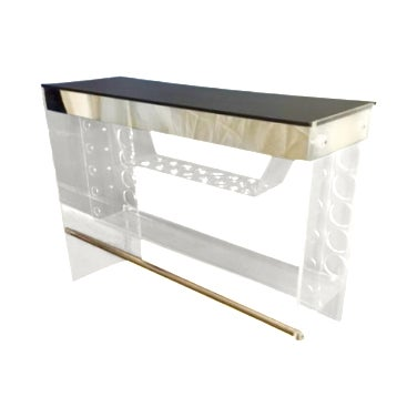 Lucite Hollywood Regency Lighted Bar Table - Image 1 of 8