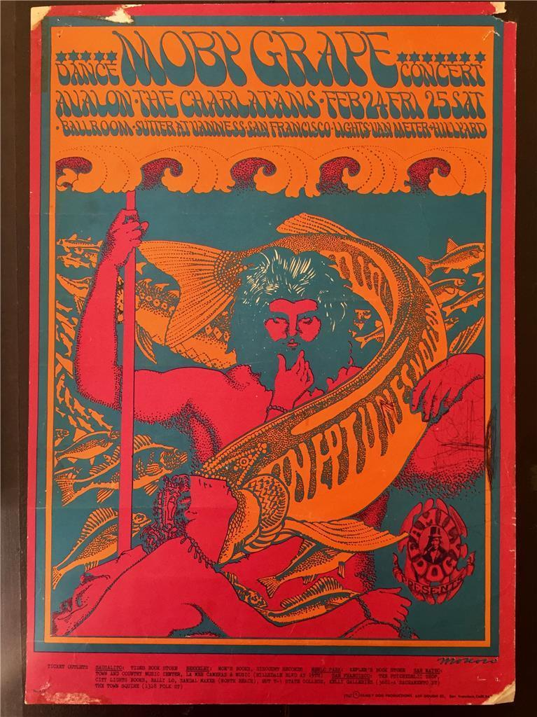Moby Grape 1967 San Francisco Rock Poster   Image 2 Of 6