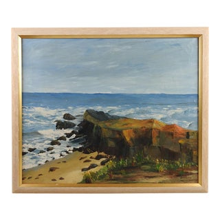 Rocky Coast Seascape Oil Painting