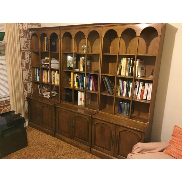 Early American Bookshelves With Storage Cabinets - Set of 3 - Image 7 of 7