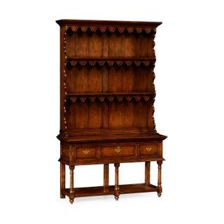 Small Walnut Display Cabinet