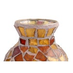 Image of Amber Glass Mosaic & Terracotta Vase