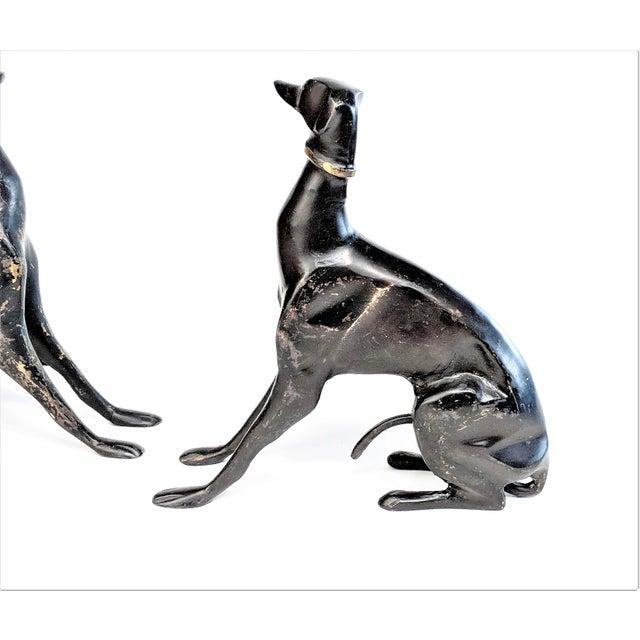 Bronze Greyhound Dog Statues - Set of 3 - Image 6 of 11
