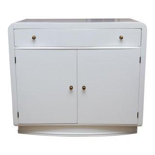 Mid-Century Lacquered 2-Door Cabinet