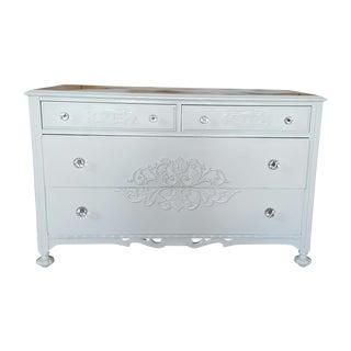 Antique White Crystal Knob Dresser