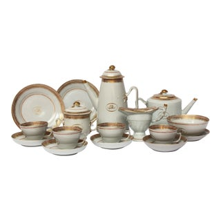 "Chinese Export Coffee / Tea Set, Monogrammed ""GM"""