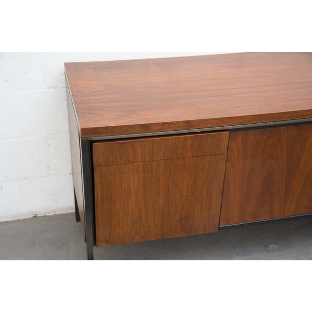 Rosewood Steel Office Credenza - Image 6 of 11