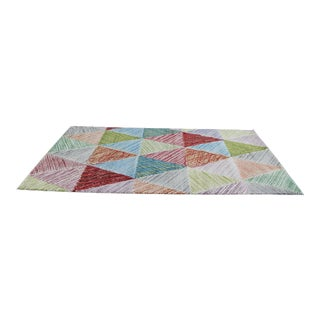 Colorful Triangles Children's Rug - 5′3″ × 7′7″