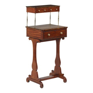 English Regency Mahogany Two-Tiered Ladies Writing Desk