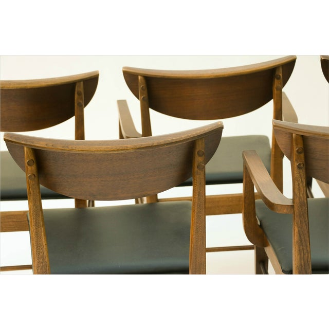 Mid Century Modern Bassett Dining Chairs - S/5 - Image 7 of 10