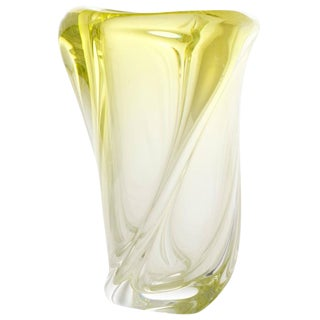 Murano Ombre Citron Glass Vase