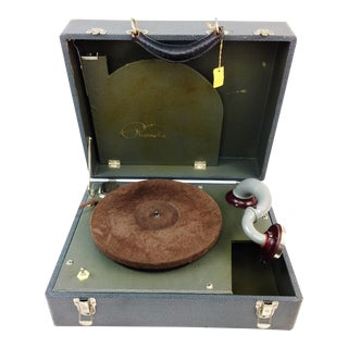 Vintage Waters Conley Phonola Portable Electric Phonograph Record Player