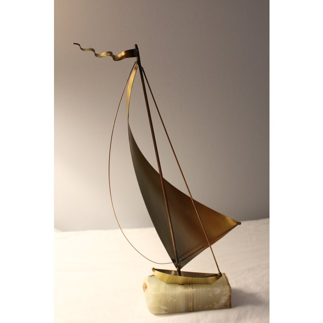 DeMott Mid-Century Brutalist Brass Sculpture - Image 5 of 5