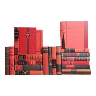 Vintage Crimson Book Set, S/20
