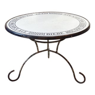 Molson Enamel Top Table