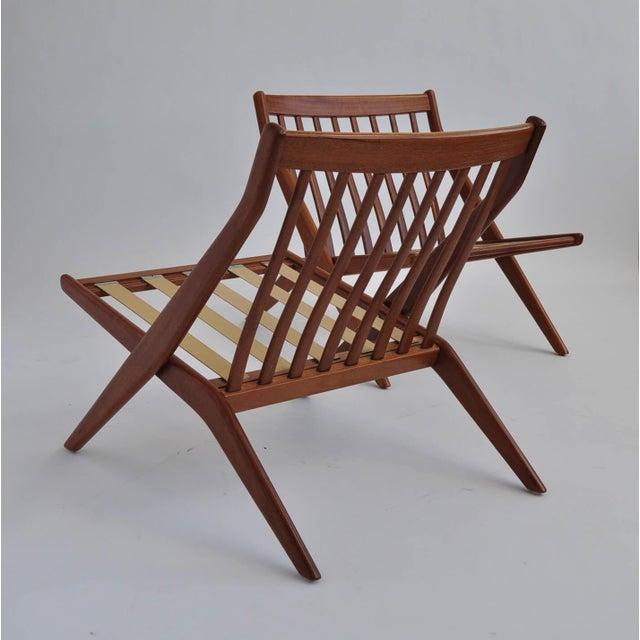 Folk Ohlsson Scandinavian Scissor Lounge Chairs - Image 9 of 10