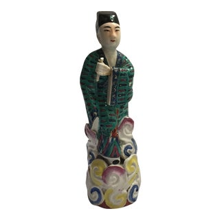 Antique Chinese Famille Rose Immortal Figurine