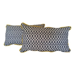 Navy & White Rectangle Pillows - A Pair
