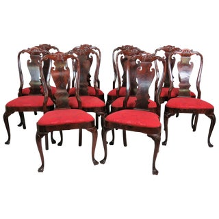 Georgian Style Mahogany Dining Chairs - Set of 10