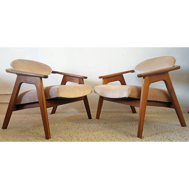 Adrian Pearsall Craft Captain Chairs - Pair - Image 7 of 8