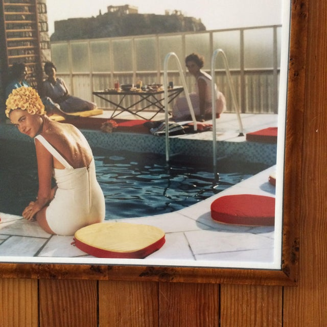 Framed Photograph - Slim Aarons Poolside - Image 3 of 3