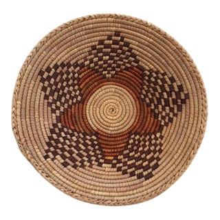 Vintage Native American Style Coil Basket