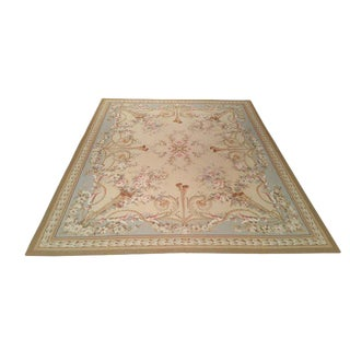 French Aubusson Weave Hand Made Knotted Rug - 8′ × 10′