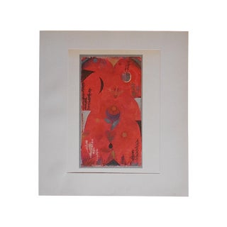 Vintage Klee Mid-Century Abstract Lithograph