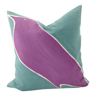 "Rene Shoemaker ""Raven"" Silk Pillow"
