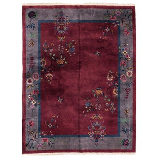 "Chinese Red Peking Rug - 8'8"" x 11'8"""