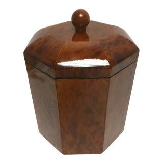 Vintage Tortoise Octagon Ice Bucket