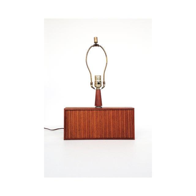 Image of Mid Century Wood Table Lamp