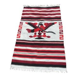 Navajo Style Reversible Wool Rug - 3′11″ × 5′7″