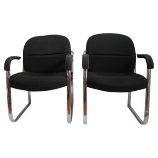 Mid-Century Chrome Chairs - A Pair