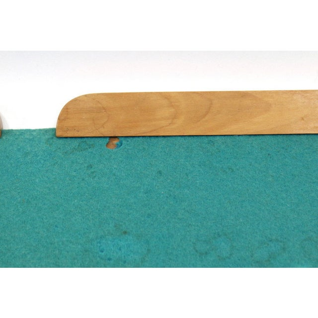 1950s Turquoise Wood & Wool Horse Wall Art -A Pair - Image 6 of 6