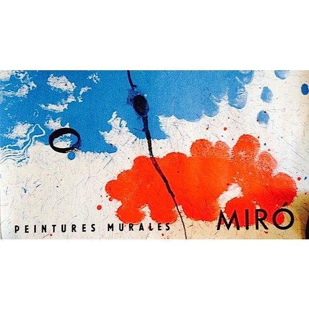 Original 1961 Miro Poster Derriere Le Miroir - Image 2 of 6