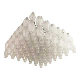 Colossal Venini Attributed Polyhedral Chandelier