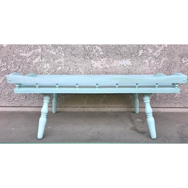 Image of Shabby Chic Painted Farmhouse Style Coffee Table