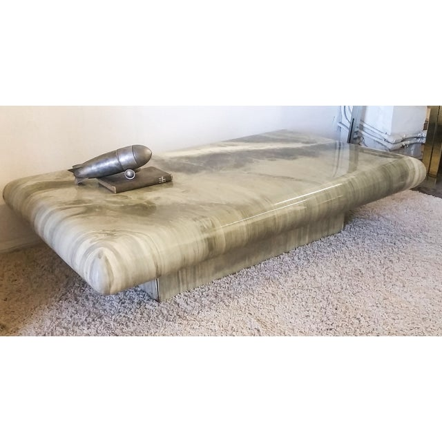 Monumental 1970s Faux Marble Coffee Table - Image 4 of 5