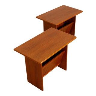 Danish Modern End Table/Magazine Holder - Pair