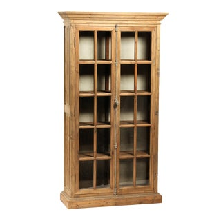 Reclaimed Pine Glass Door Cabinet