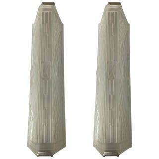 French Art Deco Wall Sconces - A Pair