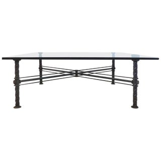 Brutalist Iron Coffee Table by Ilana Goor, Signed and Numbered