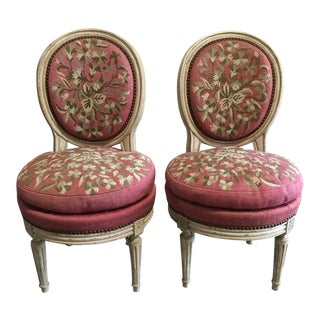 French Needlepoint Chairs - A Pair