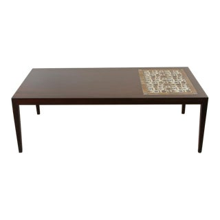 Danish Rosewood and Mosaic Tile Top Coffee Table by Severin Hansen