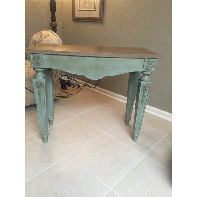 Vintage console table and mirror chairish for 10 inch depth console table